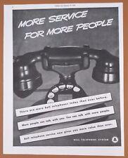 1938 Bell Telephone Original Vintage Antique Phone Print AD