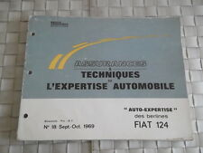 REVUE TECHNIQUE AUTO EXPERTISE CARROSSERIE FIAT 124 DES BERLINES