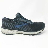 Brooks Mens Ghost 12 1103161D058 Black Gray Running Shoes Low Top Size 10 Medium