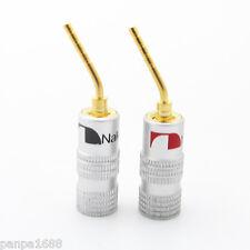 4pcs Nakamichi Aluminum Sleeve Gold Plated 2mm Banana Plug Terminal Connector