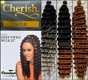 "Cherish Deep Twist Bulk 22"" Synthetic Crochet Braid Long Curly Hair Extensions"