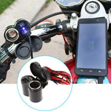 Waterproof 12V USB Cigarette Lighter Power Port Outlet Socket Kit For Motorcycle