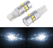 LED Light 50W 168 White 5000K Two Bulbs Front Side Marker Parking Stock Lamp T10
