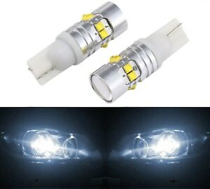 LED Light 50W 168 White 5000K Two Bulbs Front Side Marker Parking Upgrade JDM