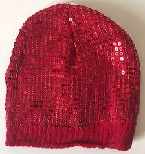BNWT Red Sequinned Cute Beanie Hat