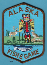 """ALASKA FISH AND GAME PATCH Totem pole   5""""."""