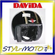 80228 CASCO DAVIDA 80-JET TWO TONE BLACK / GOLD TAGLIA M