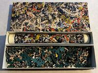 Jackson Pollock Convergence Puzzle 340 Piece Jigsaw 1964 Vintage M25 w Poster