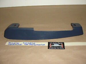 88 Cadillac Coupe Deville FWD LEFT FRONT 60/40 POWER SEAT TRACK OUTER COVER TRIM