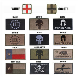Tactical Patch Army Badge Combat Armband Punisher Embroidered Military Patches