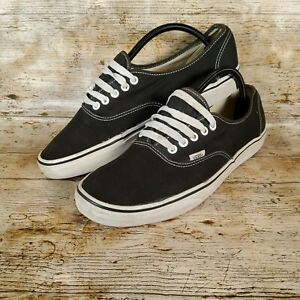 Vans black & white authentic trainers Canvas UK 11 US 12 Waffle Sole Used
