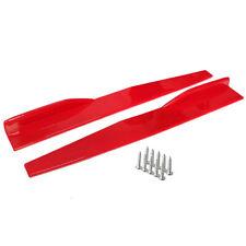 2pcs Universal Red Car Side Skirt Rocker Splitters Canard Diffuser Winglet Wings