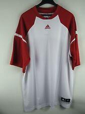 """ADIDAS T-Shirt """"TRKY SHTR"""" Shirt Gr. 2XLT  Weiss / Rot M36767 #108"""