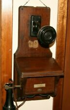 Antique Fiddle Back Style Wall Telephone original