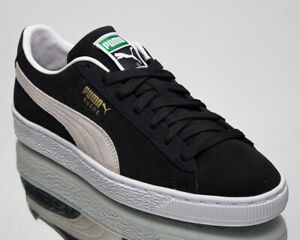 Puma Suede Classic XXI Men's Black White Casual Athletic Lifestyle Sneakers Shoe