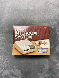 Archer 2-Station Intercom System Vintage Radio Shack 43-222 Vintage