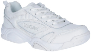 Mirak Contender Leather Trainers Lace Up Kids PE Adults Unisex UK Size 2-12