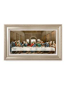 DecorArts The Last Supper by Leonardo da Vinci  Framed Art for Wall Decor F86