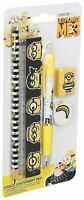 DESPICABLE ME MINION School Stationery Pencil Case Fillers Set 5 MINIONS Items