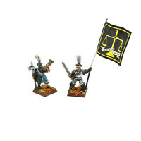 THE EMPIRE Banner trumpeter command METAL #1 WELL PAINTED Fantasy Freeguild