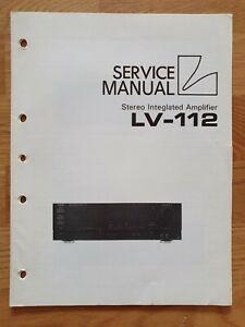 Luxman LV-112 service manual original EN