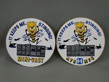 2 It Keeps Me Stinging ATS HTS Mini-Vast Military Decals Arms Trade Show 1984