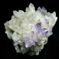 Recrystalized Amethyst Purple Quartz Crystal Cluster-qzyn9ie1940