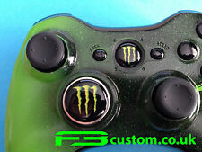CUSTOM XBOX 360 * Monster LOGO * pulsante di guida e Tastierino * f3custom *