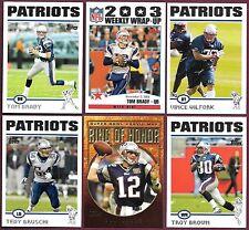 2004 Topps New England Patriots Team Set (18) S B Champs Wilfork RC Brady Ring