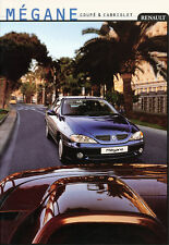 Renault-MEGANE-Coupe & Convertible Brochure - 12/99 - German-NL-shipping trade