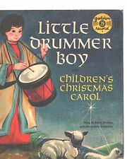 LITTLE DRUMMER BOY CHILDREN'S PICTURE SLEEVE ONLY---PS---PIC---SLV