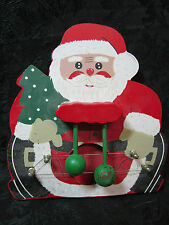 Handmade Hand Painted Santa Clause Christmas Hanging Ornament Musical Door Knock
