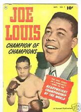 Joe Louis Champion of Champions #1 September 1950 VG
