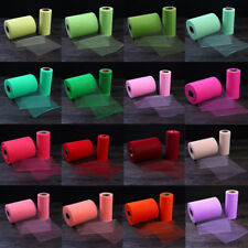 Crystal Shiny Sheer Gauze Tulle Roll Organza Wedding Party Decorations Colorful