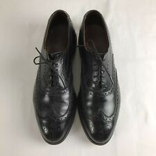 Allen Edmonds Chester Black Leather Brogue Wingtips Mens Sz 8.5 D Oxford Shoes