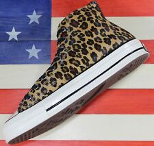 CONVERSE Chuck Taylor SAMPLE ALL-STAR HI Leopard Cheetah Fur Shoe [163224C]Men 9