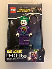 Lego DC Comics Super Heroes THE JOKER LED LITE Flashlight Key Ring  New in Box