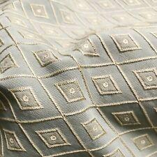 "Vintage Geometric Diamond Jacquard Woven Upholstery Fabric by the Yard - 54"""