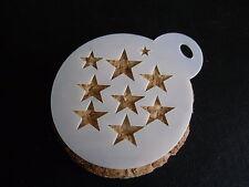 Corte láser Pastel de diseño de estrellas pequeñas, Cookie, Craft & Plantilla de Pintura de cara