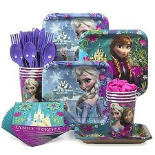 Designware Disney Frozen Party Supplies Pack Including Plates, Cutlery, Cups,...