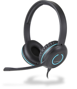 3.5mm Stereo Headset with Headphones and Noise Cancelling Microp