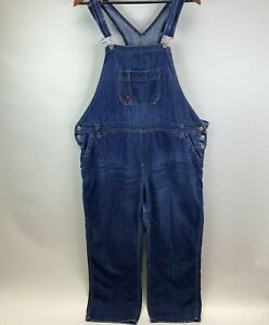 Dickies Blue Denim Overalls Womens Size Large