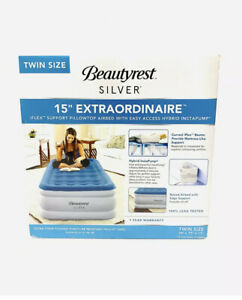 Beautyrest Silver Extraordinaire Raised Air Mattress with iFlex -Size - Twin