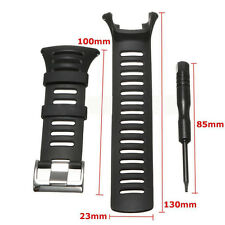 1pc Rubber Replacement Watch Band Strap For SUUNTO Ambit3/Ambit 2/Ambit1 Black *