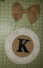 Shabby Chic White Letter K wall hanging