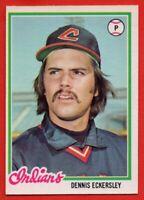 1978 O-PEE-CHEE #138 Dennis Eckersley NEAR MINT+ SCARCE Cleveland Indians