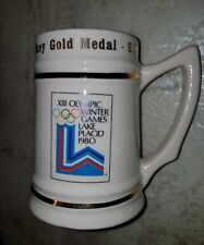 Olympics 1980 USA Hockey Gold Medal Champions Stein FREE SHIPPING