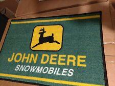 John Deere Snowmobile Vintage Retro logo door mat