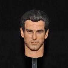 """1/6 scale Head Sculpt Pierce Brosnan as James bond 007 Fit 12"""" toys"""