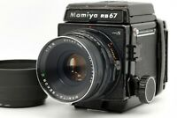 【EXC+5】 Mamiya RB67 Pro S Sekor C 127mm f/3.8 Lens Hood 120 Film Back From JAPAN